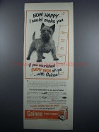 1948 Gaines Dog Food Ad - How Happy I Could Make You