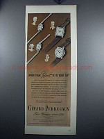 1948 Girard Perregaux Watch Ad - Mother, Father, Sister