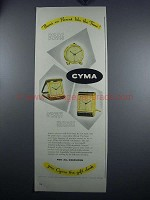 1948 Cyma Clocks Ad - Little Boudoir, Camera-type