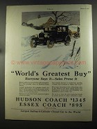 1925 Hudson Coach & Essex Coach Cars Ad - Greatest Buy