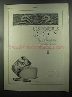 1925 Coty Face Powders Ad - Les Poudres
