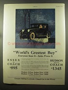 1925 Hudson Coach and Essex Coach Cars Ad - Greatest!