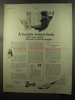 1925 Zonite Personal Antiseptic Ad - Frankly Written