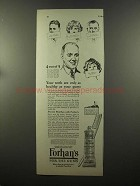 1925 Forhan's Tooth Paste Ad - Only As Healthy As