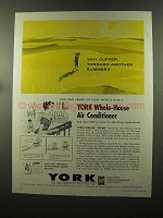 1960 York Twinline Air Conditioner Ad - Why Suffer