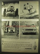 1960 Champion Spark Plugs Ad - Experts in Field