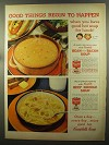 1960 Campbell's Bean with Bacon & Beef Noodle Soup Ad