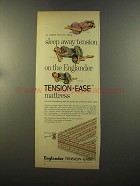 1959 Englander Tension-Ease Mattress Ad - Sleep Away