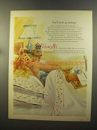 1959 Wamsutta Supercale & Debucale Sheets Ad - Smiling