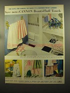 1959 Cannon Beauti-Fluff Towels Ad - For Gifts