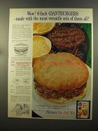 1959 Pillsbury Hot Roll Mix Ad - Giantburgers