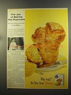 1959 Pillsbury Hot Popover Mix Ad - The Joy