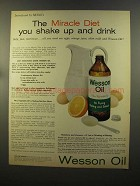 1959 Wesson Oil Ad - The Miracle Diet