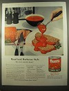 1959 Hunt's Tomato Sauce Ad - Meat Loaf, Barbecue Style