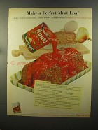 1959 Hunt's Tomato Sauce Ad - A Perfect Meat Loaf