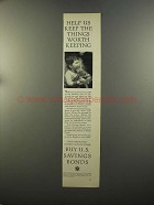 1959 U.S. Savings Bonds Advertisement - Things Worth Keeping