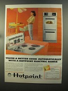 1958 Hotpoint Electric Ranges Ad - You're a Better Cook