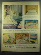 1958 Lady Pepperell Sheets & Blankets Ad - Any Bedroom