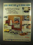 1958 American Gas Association Tappan Built-in Range Ad
