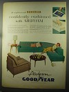 1958 Goodyear Airfoam Cushions Ad - Kroehler Furniture