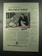 1958 Iron Fireman Heating and Cooling Ad - What Kind