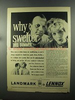 1958 Lennox Landmark Heating and Cooling Ad - Swelter
