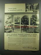 1958 Andersen Windowalls Ad - A Summer Porch