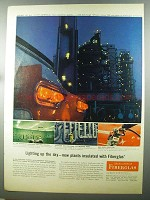 1958 Owens-Corning Fiberglas Ad - Lighting Up the Sky