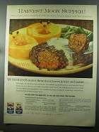 1958 Quaker Oats and Mother's Oats Ad - Meat Loaves