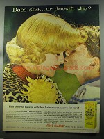 1958 Miss Clairol Hair Color Bath Ad - Does She?
