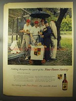 1958 Four Roses Whiskey Ad - Nothing Dampens Spirit