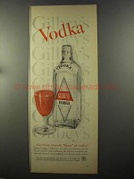 1958 Gilbey's Vodka Ad - Clear, Smooth Heart