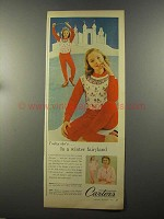 1958 Carter's Skating Print Ski Pajama Ad - Fairyland