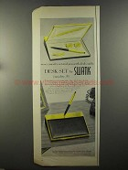 1958 Swank Desk-Set Ad - Men's Jewelry Set and Pen