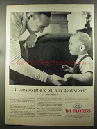 1957 The Travelers Insurance Ad - Tell Him Don't Worry