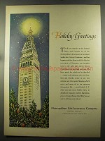 1957 Metropolitan Life Insurance Company Ad - Holiday