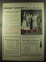 1957 Singer Sewing Center Ad - $125,000 Contest