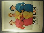 1956 Acrilan Jersey by Jantzen Ad - Can Wash and Wear