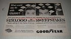 1956 Goodyear 3-T Safety Tires Ad - Sweepstakes