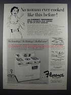 1955 Florence Governess Gas Range Ad - No Woman Ever