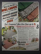 1955 Olson Rugs Ad - Before You Buy any Rugs