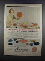 1955 Boontonware Candescent Dinnerware Ad - Light Shows