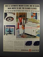 1955 General Electric Automatic Washer Ad - Wash Water