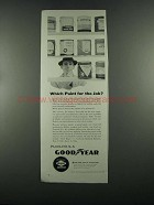1955 Goodyear Pliolite S-5 Rubber Resin Paint Ad