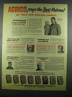 1955 American Agricultural Chemical Agrico Products Ad