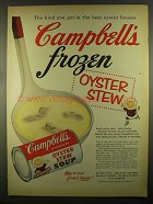 1955 Campbell's Oyster Stew Soup Ad - Frozen