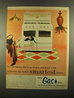1955 American Gas Association Ad - Tappan Gas Range