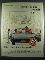 1963 7up Soda Ad - Colossal, Sensational, Spectacular