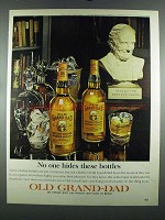 1964 Old Grand-Dad Bourbon Ad - No One Hides