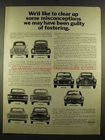 1964 Volvo 544, 122S, 1800S Cars Ad - Misconceptions